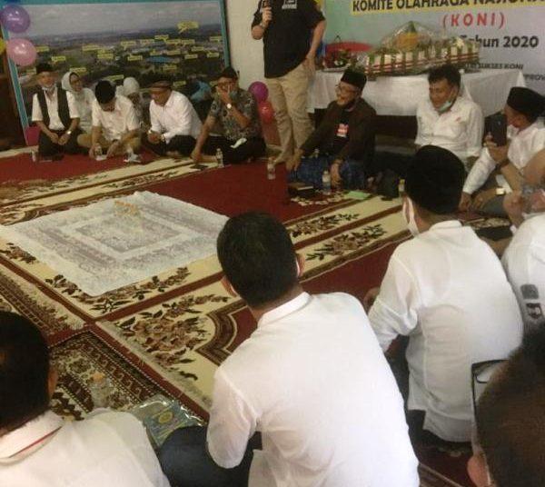 Suasana peringatan HUT ke-82 KONI Sumsel di Aula KONI Sumsel, Jumat (16/10). (fornews.co/humas koni sumsel)