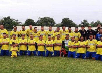 Tim Persipra Prabumulih siap menyambut dua tim dari Palembang yang akan bertanding dalam Trofeo Old Star Ramadan 1442 H yang digelar di Stadion Talang Jimar Prabumulih, Minggu (11/4/2021). (fornews.co/persipra prabumulih)