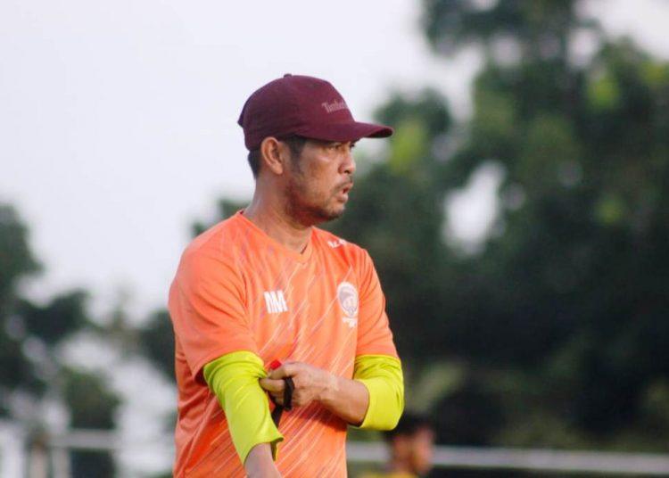 Pelatih Kepala Sriwijaya FC Nil Maizar. (fornews.co/media officer sriwijaya fc)