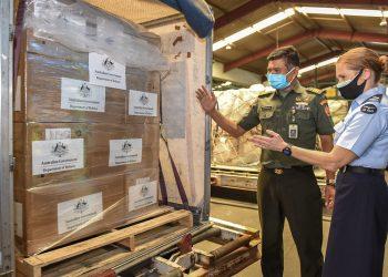 Paket bantuan tambahan dari Australia dilaporkan terdiri dari alat uji, penyanitasi tangan, dan masker. (istimewa/Kedutaan Australia, Jakarta)