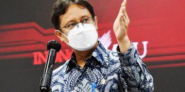Menkes RI Budi Gunadi Sadikin memberikan keterangan pers usai mengikuti Rapat Terbatas mengenai Penanganan Pandemi Covid-19 yang dipimpin oleh Presiden RI Joko Widodo, di Jakarta, Senin (10/5/2021). (fornews.co/humas setkab/rahmat)
