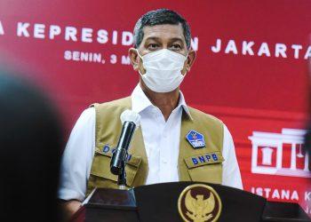 Ketua Satgas Penanganan Covid-19 Doni Monardo memberikan keterangan pers terkait hasil Rapat Terbatas mengenai Penanganan Pandemi Covid-19, , di Jakarta, Senin (3/5/2021). (fornews.co/humas setkab/agung)
