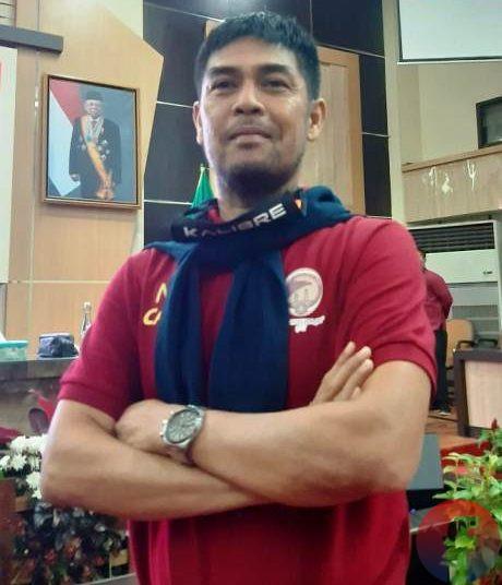 Pelatih Kepala Sriwijaya FC Nil Maizar. (fornews.co/iwan setiawan)
