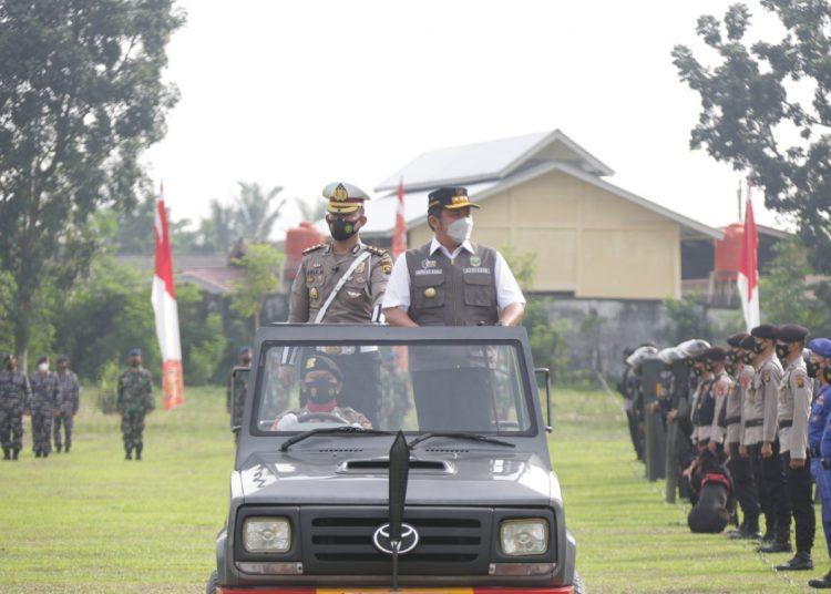 Apel Pasukan Operasi Ketupat Musi-2021 digelar di Lapangan Komplek Pakri Palembang, Rabu (5/5/2021). (istimewa/Diskominfo Sumsel)
