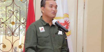 Ketua Umum FPTI Sumsel, Beni Hernedi, saat menyampaikan sambutan pada Muskot FPTI Pagaralam, di di ruang rapat Dispora Pagaralam, Kamis (8/7) lalu. (fornews.co/ist)