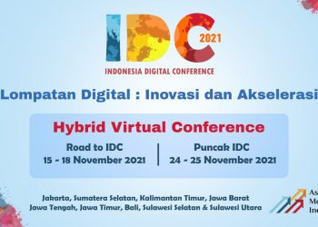 Indonesia Digital Conference (IDC) AMSI 2021. (fornews.co/ist)
